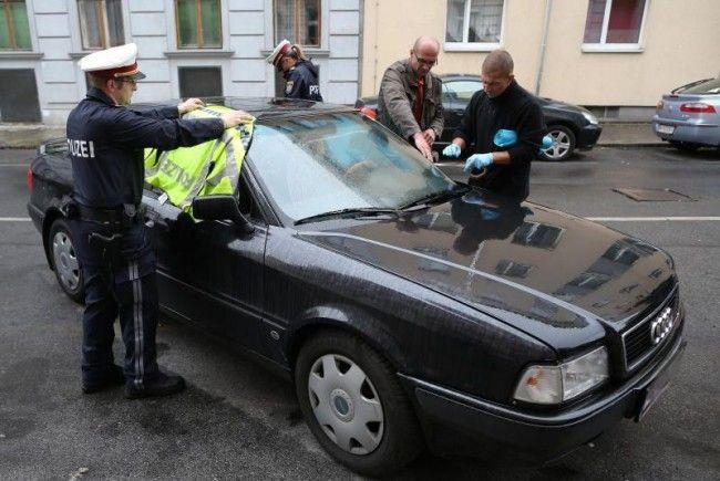 Juwelier-Überfall, erneut in Hernals: Das Fluchtauto wurde gefunden.