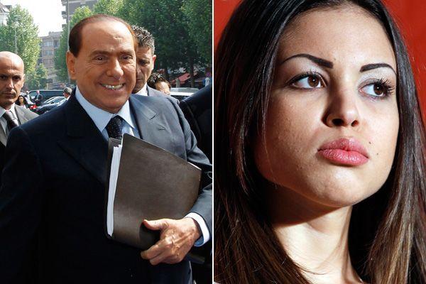 "Italiens Ex-Premier Silvio Berlusconi; Karima el Marough alias ""Ruby""."