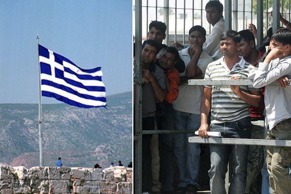 Illegale Einwanderer in Griechenland.