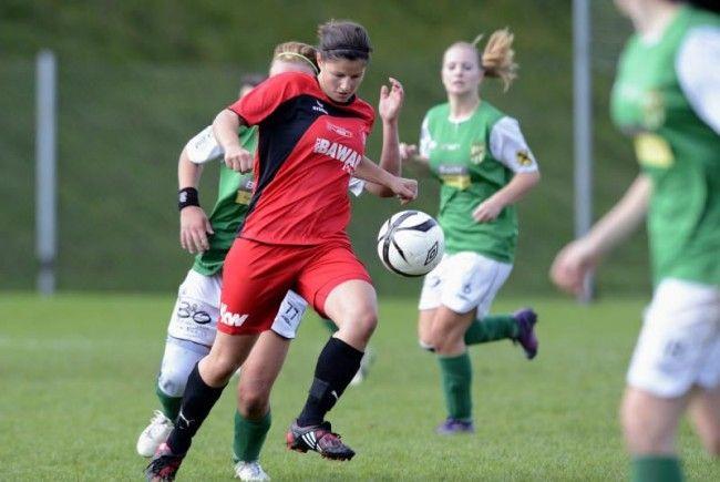 Rankweil-Kickerin Veronika Dobler zeigte eine starke Leistung, aber man verlor das Ländlederby.