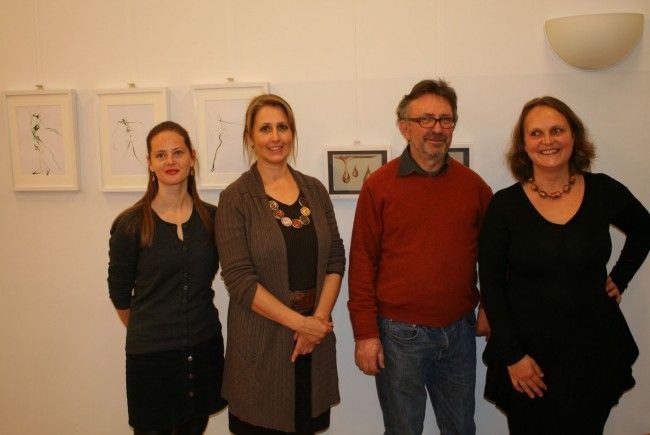 Claudia Unterluggauer, Hausherren Christiane und Georg Feuerstein, Claudia Mang