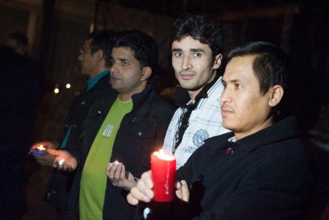Solidaritätsbekundung in Batschuns am Sonntag
