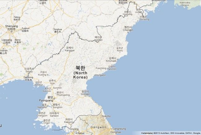 Nordkorea taucht langsam auf Google Maps auf.