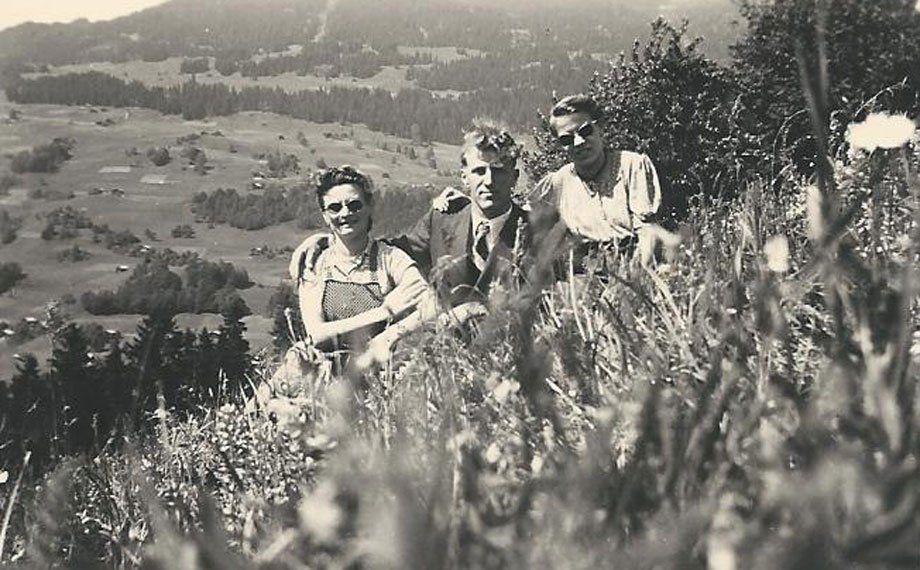 Blick auf Bartholomäberg vor 1950.