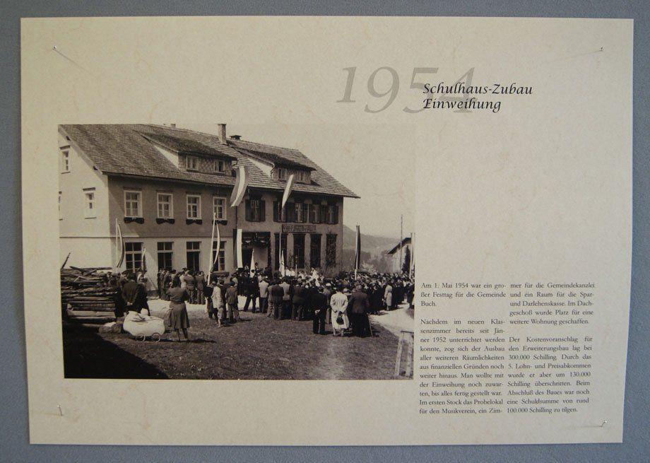 Am 1. Mai 1954 wurde der Schulhaus-Zubau in Buch eingeweiht.