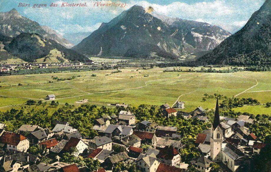Die Agrargemeinschaft Bürs zur Zeit ihrer Gründung um 1920. (Bild: Gemeindeamt Bürs)
