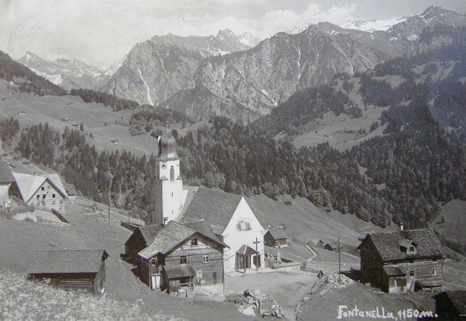1960 steckte der Tourismus in Fontanella-Faschina noch in den Kinderschuhen.