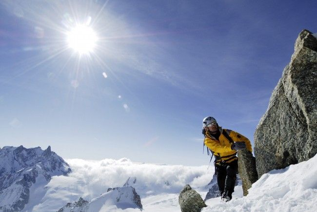 """Christian Stangl hat mit seinen Traum vom """"Triple Seven Summits"""" mit dem Shkhara erfüllt."""