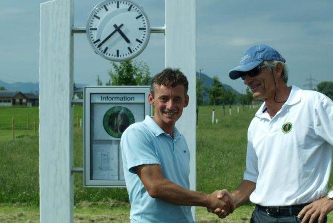 Richard Fischer hat den Golfsport in den letzten Jahren mit viel Eigenleistung aus der Taufe gehoben.