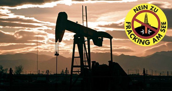 """Breite Unterstützung für die Petition """"Nein zu Fracking am See""""."""