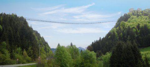 Längste Hängebrücke der Welt: Seileinzug in Tirol hat begonnen