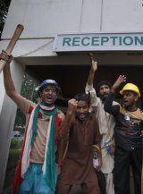 Pakistan: Demonstranten besetzten Fernsehsender