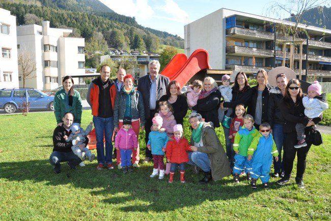 Der neue Spielplatz im Bludenzer Unterfeld wurde am vergangenen Freitag eröffnet.