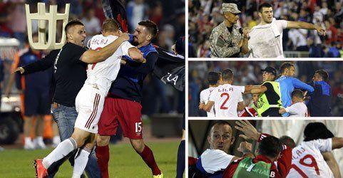 Balkan-Derby versinkt im Chaos - Abbruch bei Quali-Skandalspiel