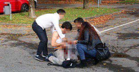Videobeweis: Festnahmen nach der Messerstecherei in Bregenz
