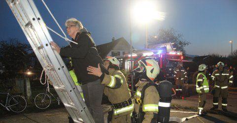Hard: Feuerwehr probt Ernstfall