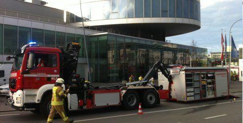 Großeinsatz: Chlorgas-Austritt beim Panoramahaus in Dornbirn