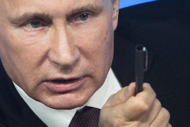 Die Sanktionen gegen Russland kommen bei Präsident Putin natürlich nicht gut an.