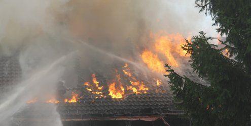 Großbrand in Langen bei Bregenz