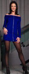 Strahlend blau sind nicht nur die Augen von Michaela aus Bregenz. Auch mit ihrem Outfit zieht die 20-Jährige alle in ihren Bann  Foto: VN/Steurer