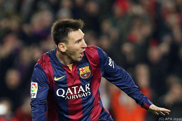 Messi war an allen vier Toren beteiligt