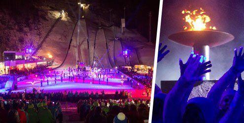 Olympisches Feuer in Tschagguns - Höchster spricht Athleten-Eid