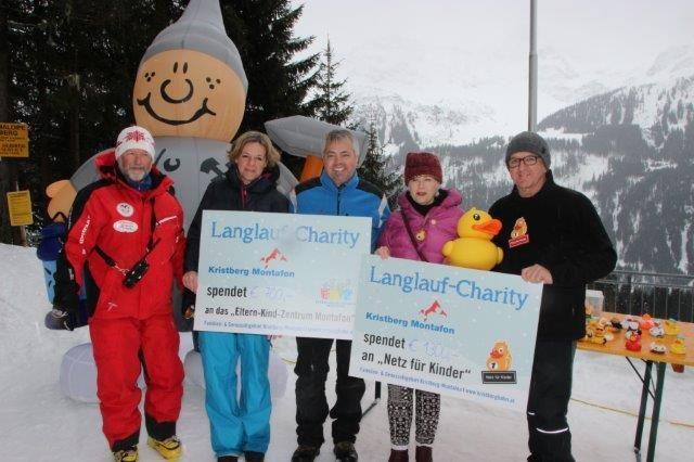 Von links nach rechts: Elmar Meidl, Angelika Vonbank, Jürgen Zudrell, Ilga Sausgruber, Franz Abbrederis freuen sich über die gelungene Charity.