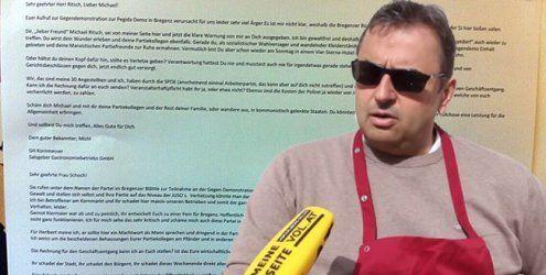 NoPegida-Demo: Wirtesprecher rudert nach Skandal-Mail zurück