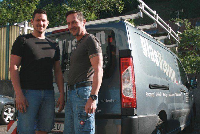 glasVision in Dornbirn: Markus Sobocan und Klaus Unterkircher.
