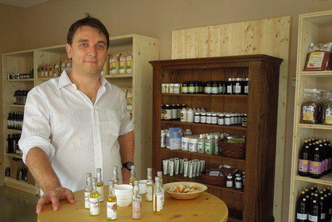 Andreas Ilgo möchte seinen neuen Naturkosthandel zu einem echten Genusstreffpunkt in Lustenau machen.