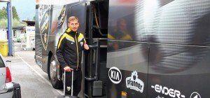 Europe League-Premiere für den SCR Altach: Abreise der Spieler nach Innsbruck