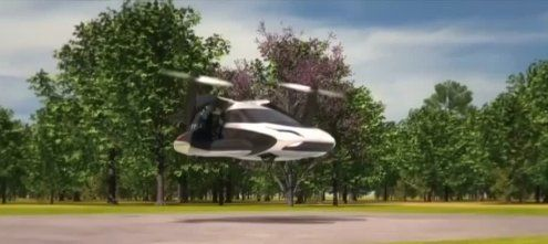 Einen Fallschirm gibt's inklusive! Auto der Zukunft kann fliegen
