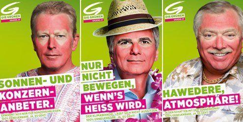 Politiker mit Sonnenbrand: Neue Werbe-Kampagne der Grünen