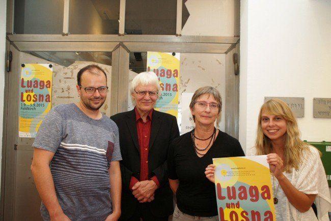 Regisseur Peter Kus mit  Johannes Rausch, Sabine Wöllgens und Stefanie Seidel vom