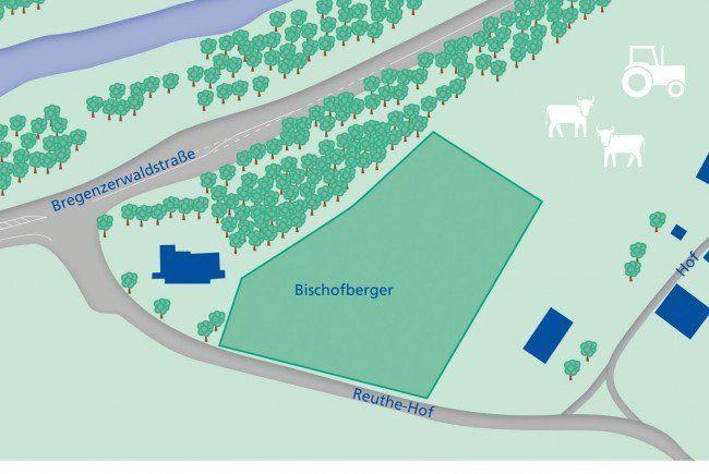 Das geplante Gelände nahe der Bregenzerwaldstraße.