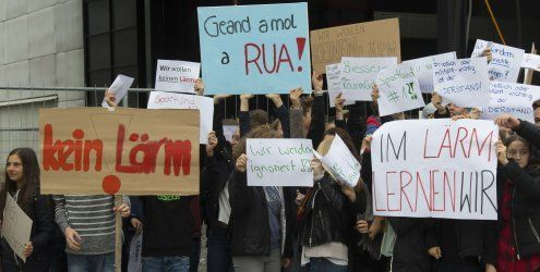 Baulärm stört Unterricht: Protest im Dornbirner Sportgymnasium