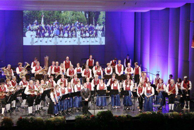 Der Musikverein Gisingen überzeugte das Publikum mit einem fulminanten Programm im neuen Montforthaus.