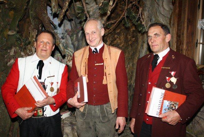 Zusammen 150 Jahre im Einsatz: Heinz Feuerstein, Walter Bär und Wendelin Fetz.