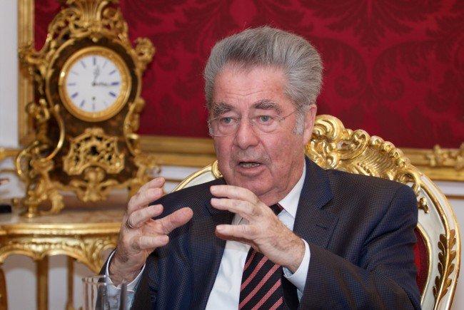 Bundespräsident Heinz Fischer stand den VN Rede und Antwort.