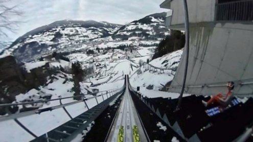 360-Grad-Video: Ein Sprungvonder Tschaggunser Schanze