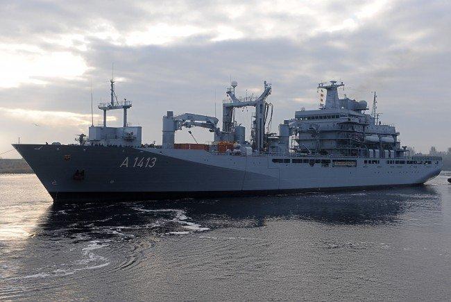 """Die """"Bonn"""", derzeit das Führungsschiff der NATO-Marinegruppe 2."""