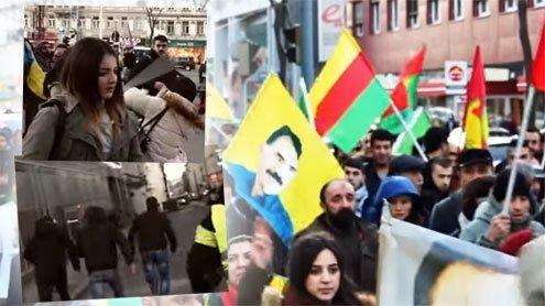 Kurden-Demo in Wien attackiert: Ein Video zeigt wüste Jagdszenen