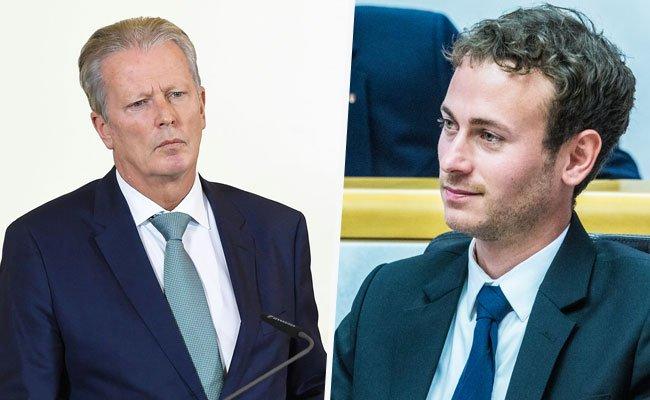 ÖVP-Chef Mitterlehner (l.) hat Post von der Wirtschaftskammer - die Vorarlberger Grünen in Gestalt von Bildungssprecher Zadra (r.) sind erfreut.