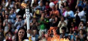 Olympische Flamme in Athen an Brasilien übergeben