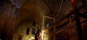 Arbeiten zur Restaurierung am Grab Jesu in Jerusalem