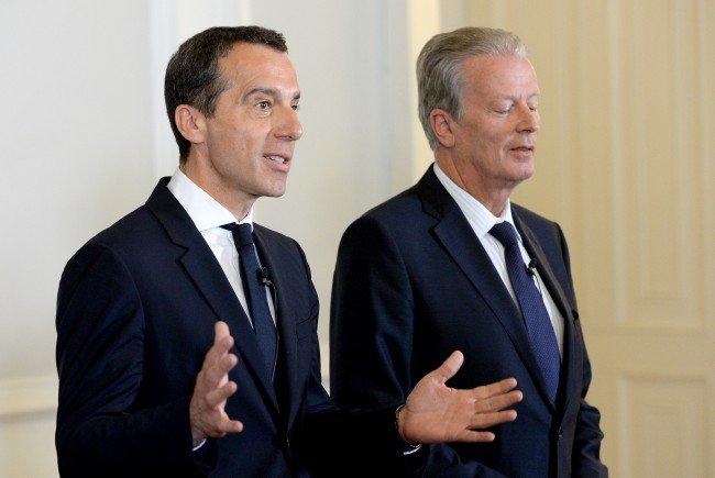 SPÖ rauf, ÖVP runter: Die Bilanz der letzten Wochen fällt für die Regierungspartner ganz unterschiedlich aus.