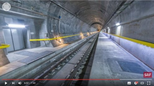 Gotthard-Tunnel im 360°-Video