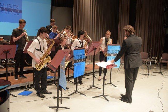 Die Juniorbigband Jazzdesaster in Aktion