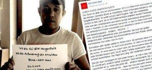 """""""Leben in der Warteschleife"""": Flüchtling sieht letzten Ausweg in Hungerstreik"""