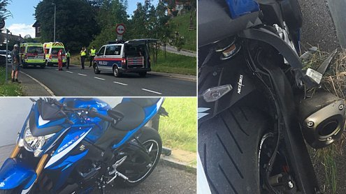 Den Randstein touchiert: Biker auf der Bödele Straße verunfallt